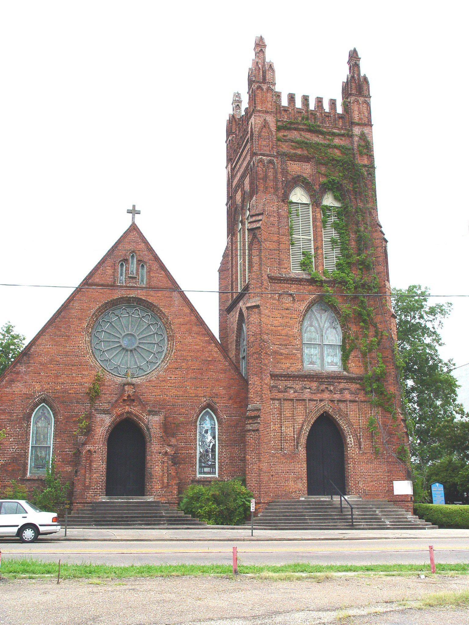 church shreveport episcopal louisiana st mark cross churches holy historic john bossier saint 1905 cathedral area methodist united history built